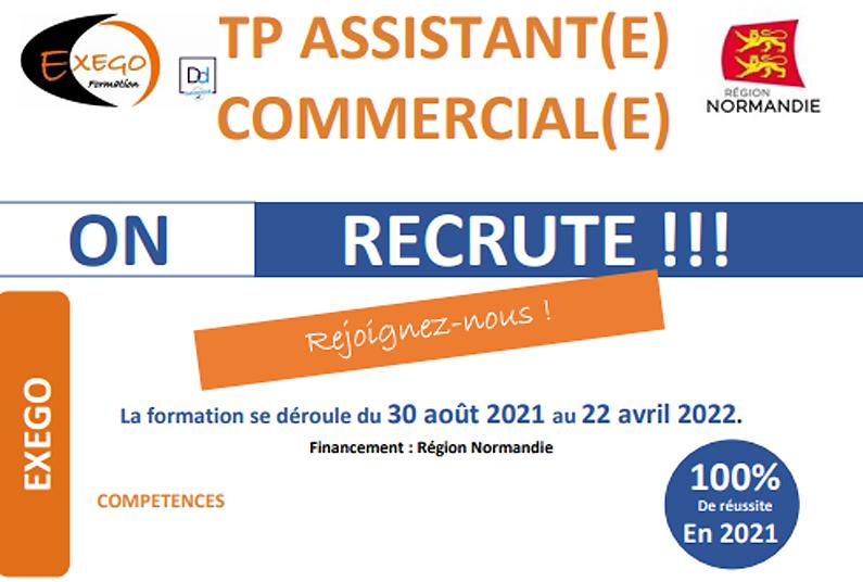 Formation TP Assistant(e) Commercial(e) du 30 août 2021